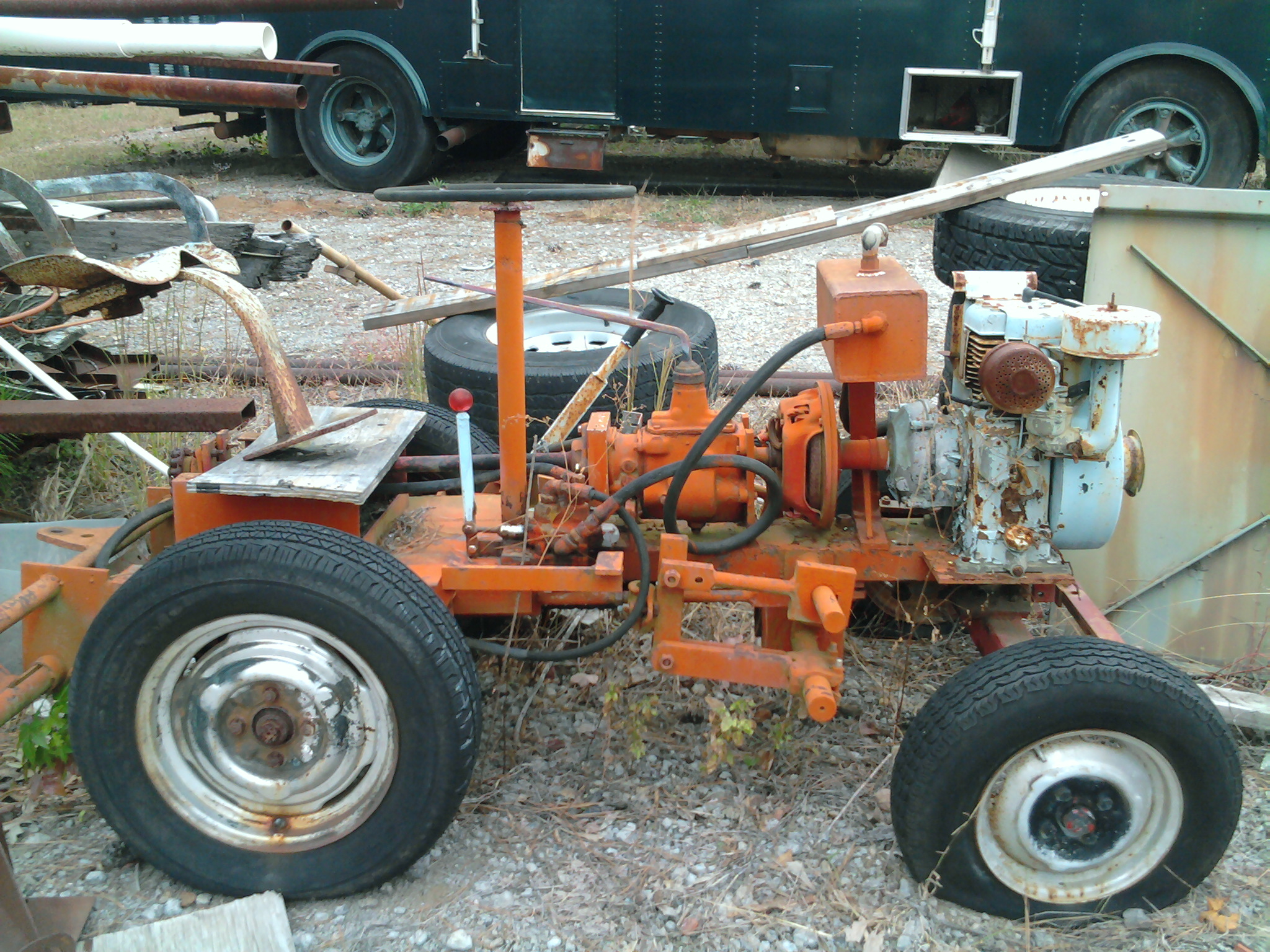 Small Homemade Tractors : Doodlebug tractor a sheep dog project